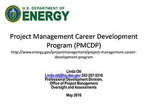 DOE Project Management Career Development | 2016