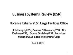 Business Systems Review | 2019